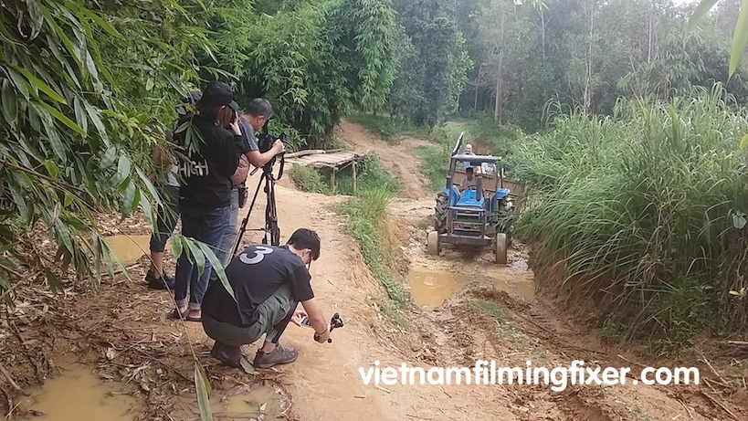 filming in Dong Nai, Vietnam