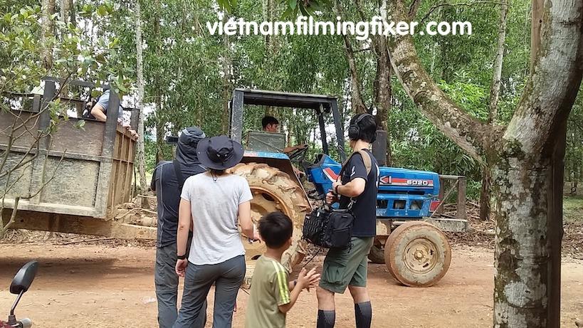 filming tractor vietnam