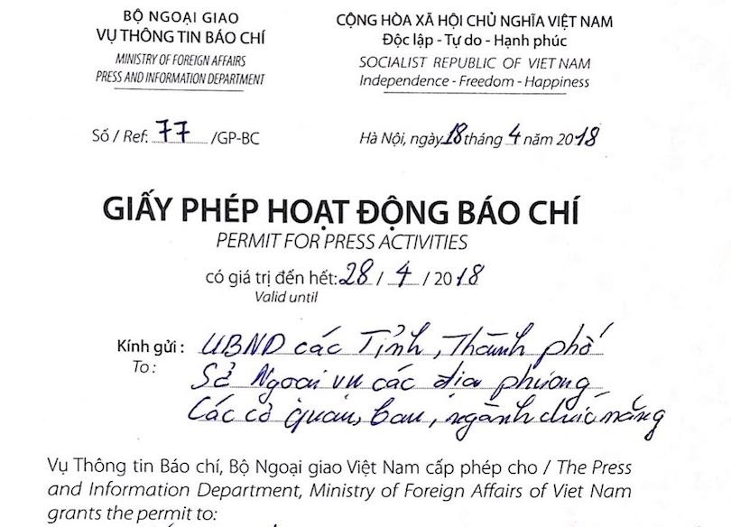 film permit vietnam
