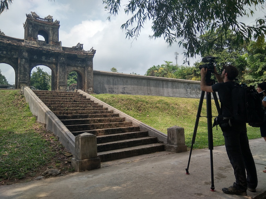 Filming Elephant temple Hue