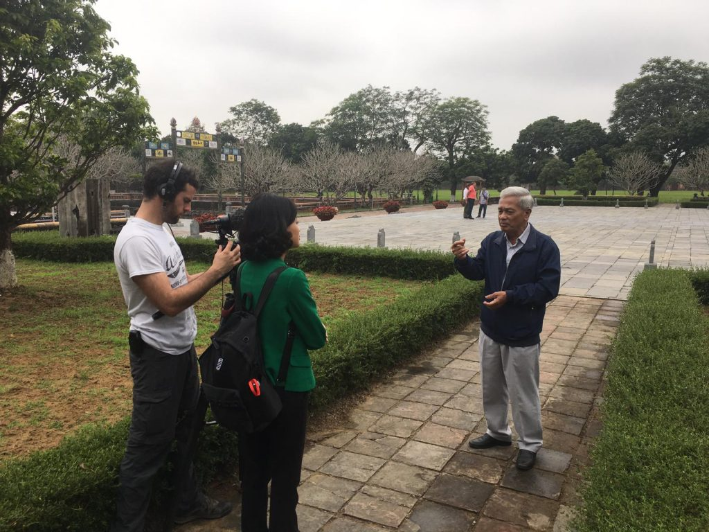 Interview Mr. Vinh about Hue citadel