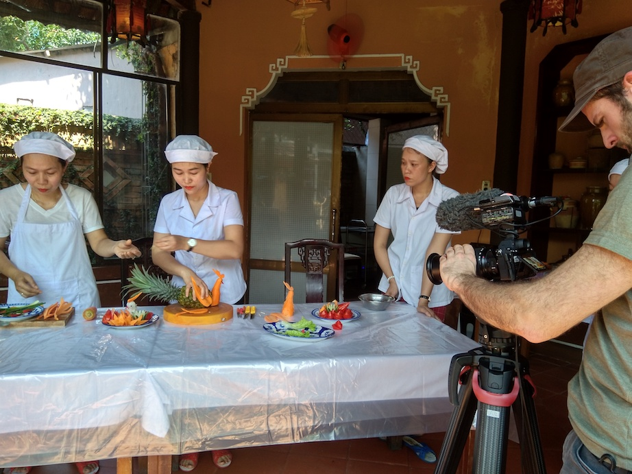 Filming Hue royal gastronomy