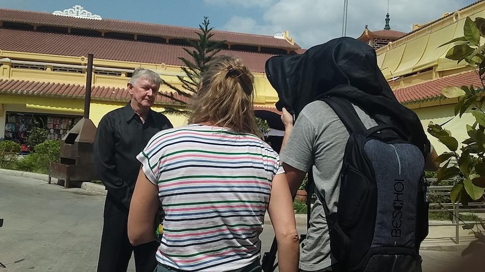 filming at binh tay market