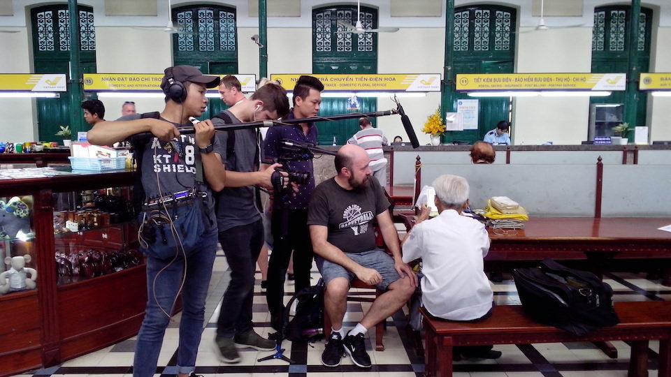 filming at vietnam post office