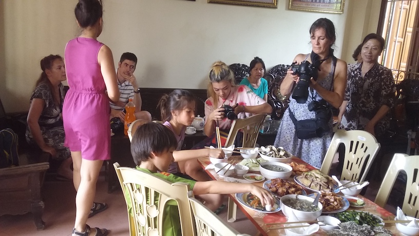 filming family meal vietnam