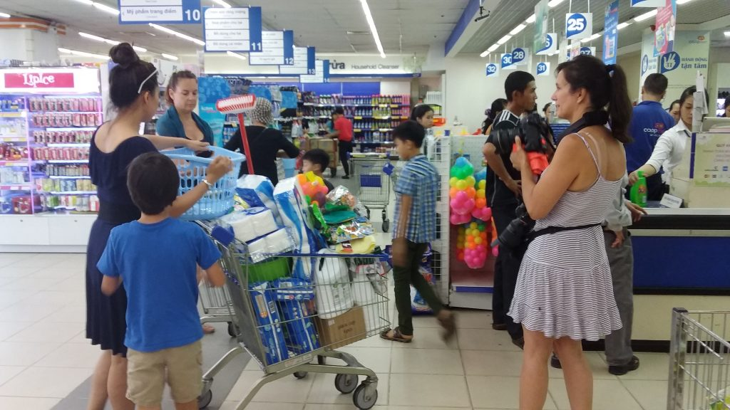 shopping to give to orphanage